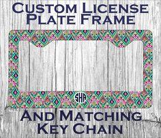 Custom Monogrammed personalized license plate by AngelsMonograms