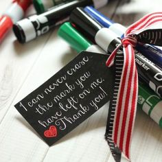 20 cheap, easy, cute & practical teacher appreciation gifts.