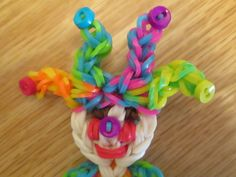 Rainbow Loom Jester's hat/Clown's hat: charm