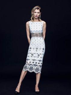 Hana Jirickova Models Black & White Looks for Bergdorf Goodman Mag November 2015 - Marc Jacobs Resort 2016