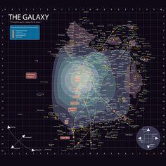 Star Wars -- Galaxy Map by Offeye