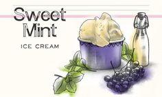 Sweet Mint Ice Cream                              -                                  Vanilleglace mit Hugo-Geschmack