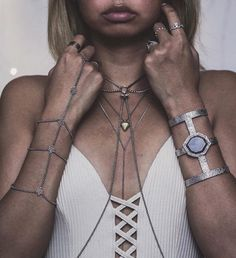 [Styled in #Silver] Lifestyle #blogger Audrie Storme accessorizes with plenty of silver #details, completing the look with an Isharya Goddess power #cuff.