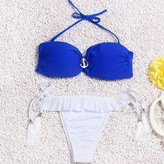 2016 Hot Mulheres Retro Maiô Sexy Micro Bikini Set Trajes de Banho Com Alça de Halter Swimwear Monokini fundo Brasileiro em Conjunto biquínis de Sports & Entretenimento no AliExpress.com | Alibaba Group