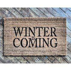 Items similar to Winter is Coming Game of Thrones door mat doormat housewarming gift under 50 direwolf house stark jon snow gifts for him on Etsy Unique Home Decor, Home Decor Items, Cheap Home Decor, Home Decor Accessories, Diy Home Decor, Geek Home Decor, Game Of Thrones Decor, Game Of Thrones Party, Game Of Thrones Bedroom