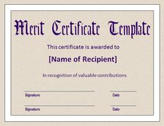 Merit Certificate Sample Experience Certificate Formats  9 Free Printable Word & Pdf .
