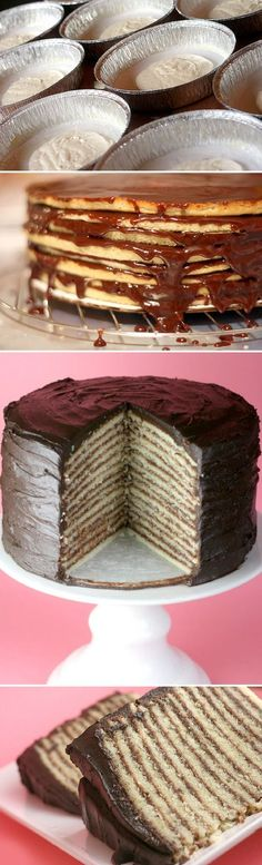 This is what Z wants for his birthday. // Lots Of Layers Cake. I would do frosting then a fruit and so forth