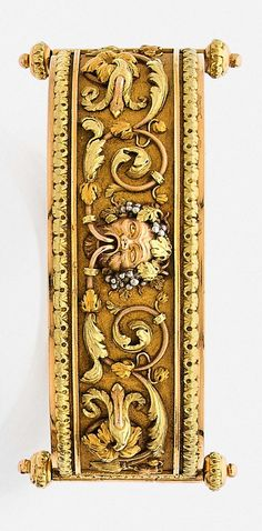 Antique gold bracelet, French, c1870.
