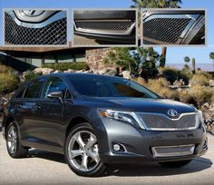 2013 Toyota Venza Mirror Stainless Steel 2PC Heavy Mesh Style Grille. Call for part number: 1395-0104-13
