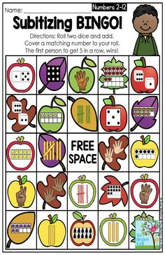 Subitizing BINGO! Such a fun game to teach beginning math skills of subitizing in Preschool, Kindergarten and First Grade!