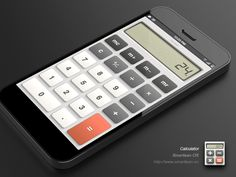Calculator by Paco #userinterface #webdesign #ui #icon #design #graphic
