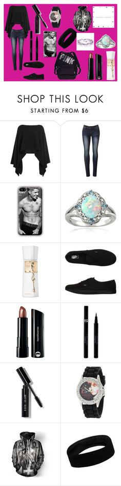 """""""Meat and Greet"""" by klb12-love on Polyvore featuring Donna Karan, Glitzy Rocks, Justin Bieber, Vans, Bare Escentuals, Victoria's Secret, Sisley, Bobbi Brown Cosmetics, women's clothing and women's fashion"""