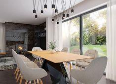 Projekt domu Agos 181,15 m² - koszt budowy - EXTRADOM Dream House Plans, Conference Room, Houses, Face, Furniture, Beauty, Home Decor, Homes, Beleza