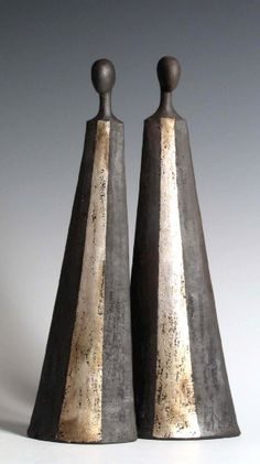 Tony Foard, an English potter specialising in raku and smoke fired figurative ceramics.