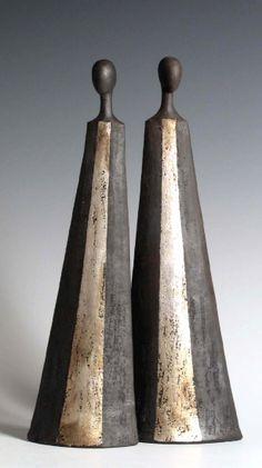 Tony Foard, an English potter specialising in raku and smoke fired figurative ceramics. Raku Pottery, Pottery Sculpture, Sculpture Clay, Ceramic Figures, Clay Figures, Ceramic Angels, Sculptures Céramiques, Paperclay, Ceramic Clay