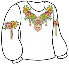 Floral Tops, Cross Stitch, Costume, Women, Fashion, Folklore, Moda, Punto De Cruz, Top Flowers