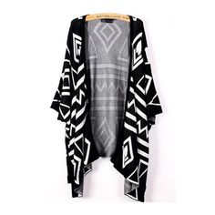Fabulous Print Design Three Quarter Sleeve Woman Cardigans found on Polyvore