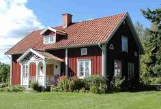 Traditional old Swedish house in the countryside