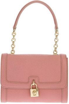 Dolce & Gabbana Pink Leather Shoulder Bag