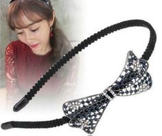 Stone Embellished Double Bow Charm Metal Hairband