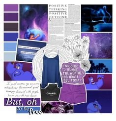 """""""The last thing I want before I die, is to breath in the fresh air. I've been in this prison my whole life /// Genie /// Aladdin"""" by fangirl-forever-1 ❤ liked on Polyvore featuring Wall Pops!, Sharpie, Chanel, Worthington and WearAll"""