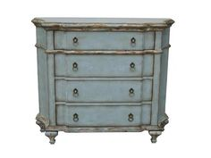 Shop+for+Pulaski+Furniture+Accent+Chest,+597027,+and+other+Living+Room+Chests+and+Dressers+at+Union+Furniture+in+Union,Missouri.+This+chest+displays+elegant+shaping+from+all+angles.+The+French+blue+finish+is+highlighted+by+the+use+of+worn+and+rubbed+areas+on+the+moldings,+and+tapered+spade+feet.