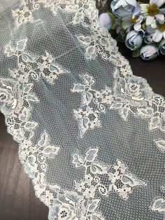 Baby blue and ivory stretch lace trim by the yard | Etsy Christmas Crunch, Christmas Morning, Lace Trim Shorts, Perfect For Me, Stretch Lace, Free Samples, Twine, Baby Blue, Stretches