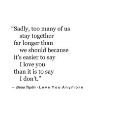 Love You Anymore