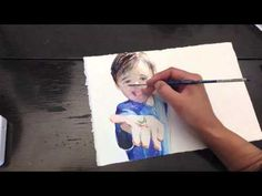 ▶ how to paint children's book illustation (figure) with watercolor - YouTube