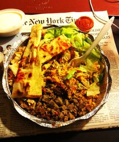 Chicken and Lamb over rice: New York 53rd and 6th