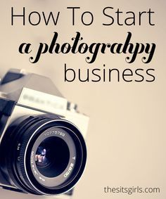 Learn exactly what you need to put your camera skills to work for you and start your own photography business.