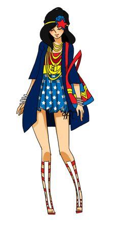 Wonder Woman street fashion