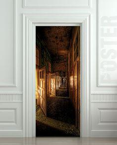 "Wall Door STICKER corridor hall hallway entrance mural decole film self-adhesive poster 30x79""(77x200cm) /"