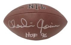 Charlie Joiner Autographed NFL Wilson Football w/ Inscription, Proof Photo