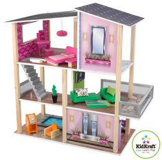 Amazon.com: KidKraft Modern Dollhouse: Toys & Games