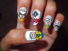 Father's day inspired nail art =D