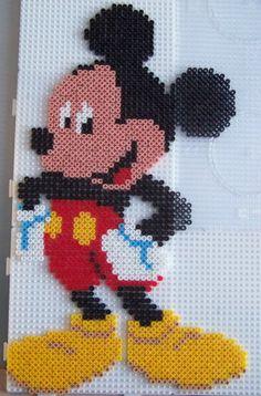Mickey Mouse hama perler beads by Les loisirs de Pat