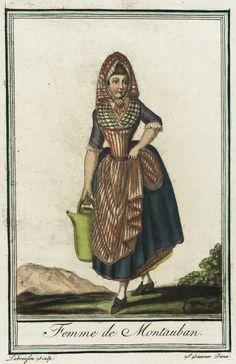 Costumes de Différent Pays, 'Femme de Montauban' Labrousse (France, Bordeaux, active late 18th century) Jacques Grasset de Saint-Sauveur (France, 1757-1810) France, circa 1797