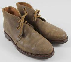 Polo Ralph Lauren Brown Leather Chukka Ankle Boots MENS Shoe Sz 9 D #PoloRalphLauren #AnkleBoots