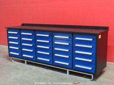 Steelman Steel Work Bench Tool Cabinet Shop Box bidadoo -New Gibson Lp, Electric Guitar Parts, Industrial Bench, Shop Cabinets, Floyd Rose, Tool Shop, Brick Block, Heavy Equipment, Chrome Finish