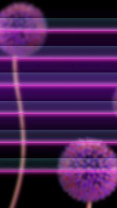 ↑↑TAP AND GET THE FREE APP! Shelves Neon Flowers Dandelion Purple Violet Dark Art HD iPhone 6 Wallpaper