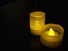 Make thread holders for LED votives....could save a lot of money at a big function