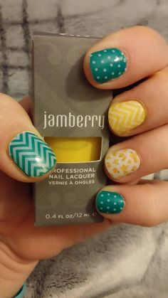Summer fun colors from Jamberry! #jamberry #nails #art #nailart #summer  http://www.luvmyshields.jamberrynails.net/