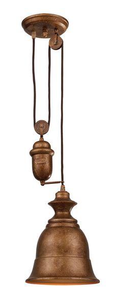 Landmark 65060-1 Farmhouse Bellwether Copper Pendant