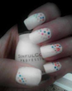 White- SinfulColor   Dots - whatever colors you want.