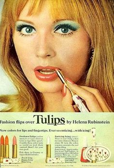 1960s Helena Rubenstein lipstick advertisement.