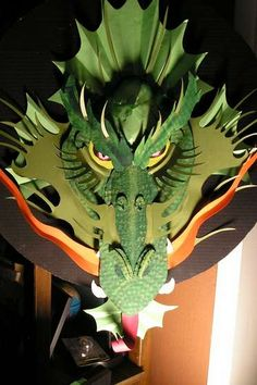 Make your own Origami Dragon, doubt I would have the patience but man that is cool!