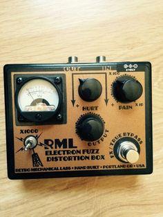 Retro Mechanical Labs Pedal Electron Fuzz Pedal Distortion #RetroMechanicalLabs