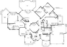 Ranch House floor Plans | Everett Manor Luxury Ranch Home Plan 085D-0395 | House Plans and More