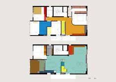 Nadja apartment plans by Point Supreme in Athens. Comic book color plans